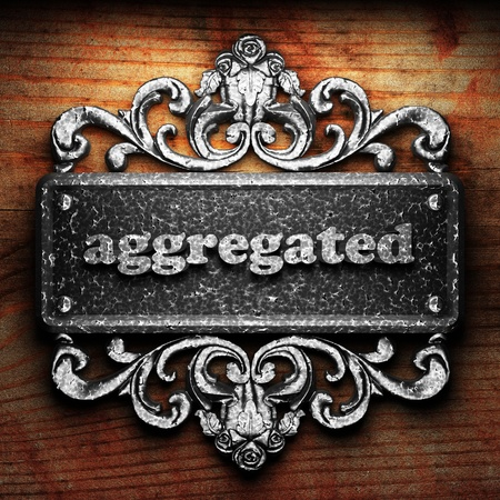 aggregated: Silver word on ornament
