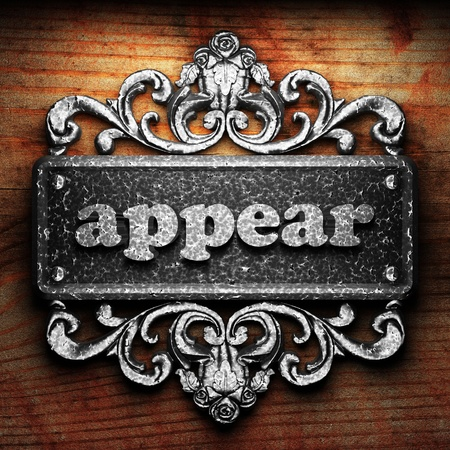 appear: Silver word on ornament