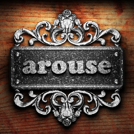arouse: Silver word on ornament