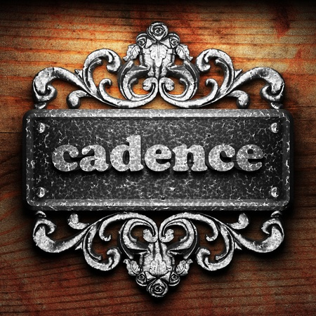 cadence: Silver word on ornament
