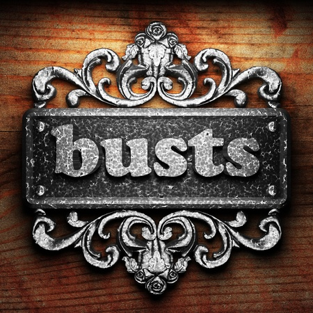 busts: Silver word on ornament