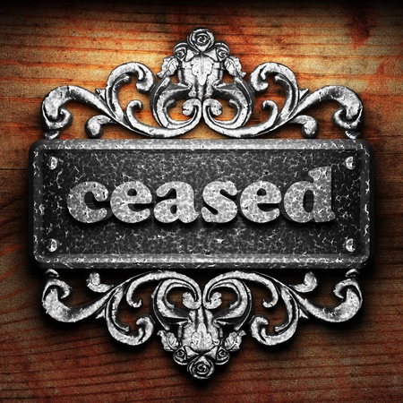 ceased: Silver word on ornament