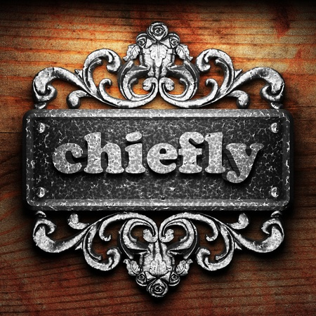 chiefly: Silver word on ornament