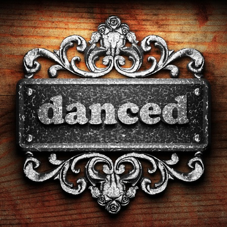 danced: Silver word on ornament