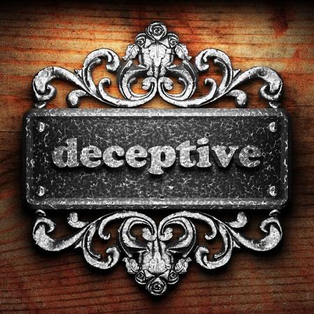 deceptive: Silver woord op ornament Stockfoto