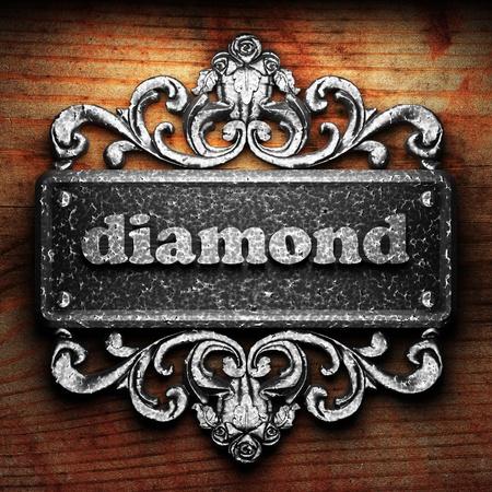diamond plate: Silver word on ornament