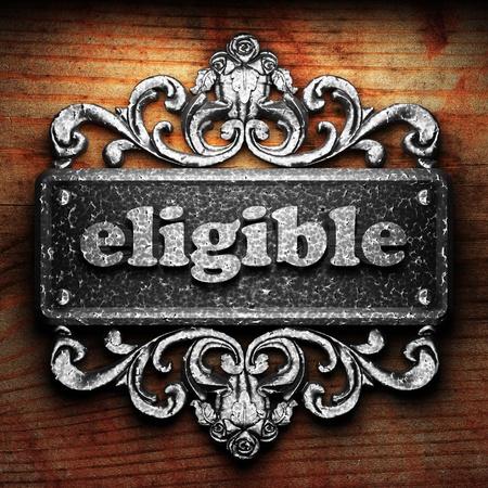eligible: Palabra en el ornamento de plata
