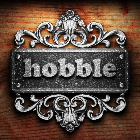 hobble: Silver word on ornament
