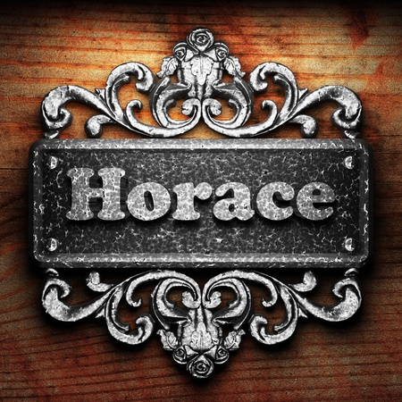 horace: Silver word on ornament