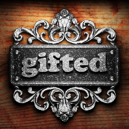 gifted: Silver word on ornament