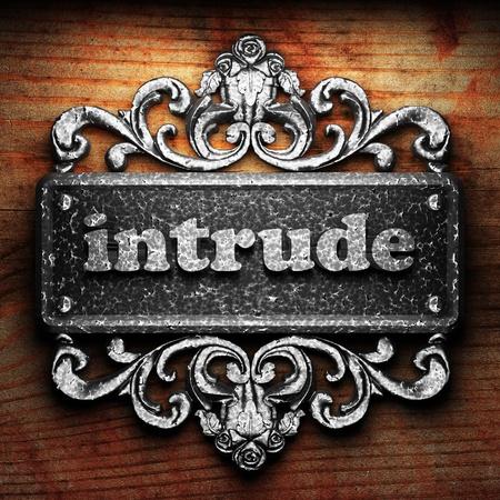 intrude: Silver word on ornament