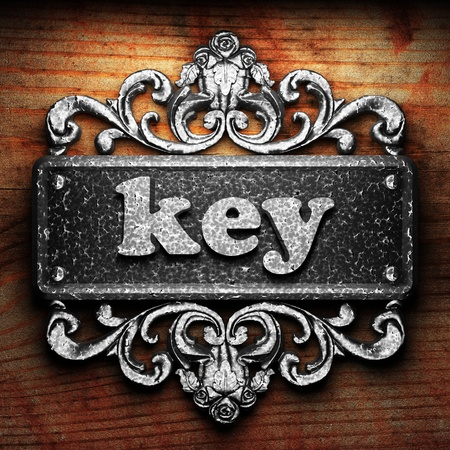 key words art: Silver word on ornament