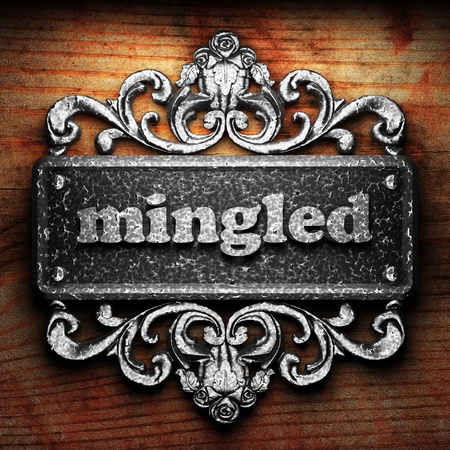 mingled: Silver word on ornament