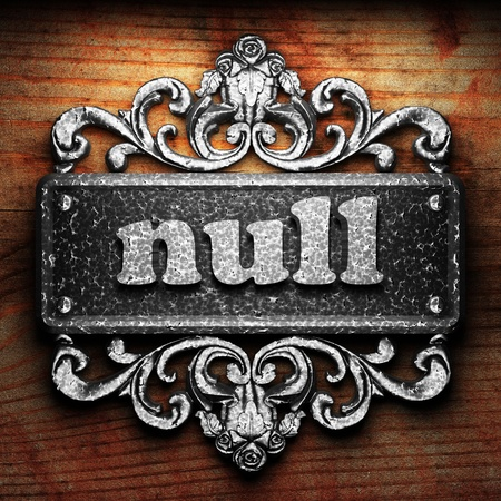 null: Silver word on ornament