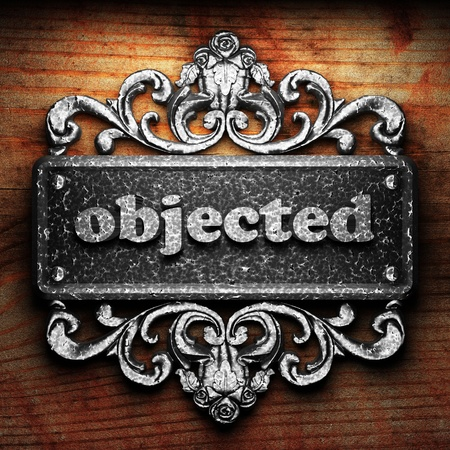 objected: Silver word on ornament