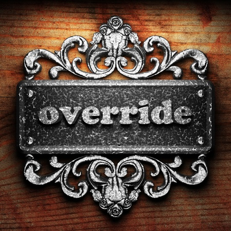 override: Silver word on ornament