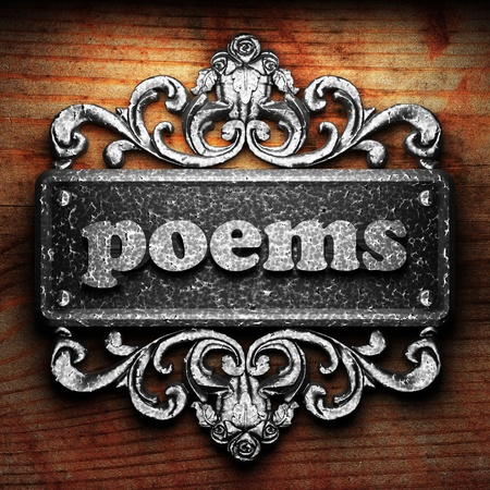 poems: Silver word on ornament