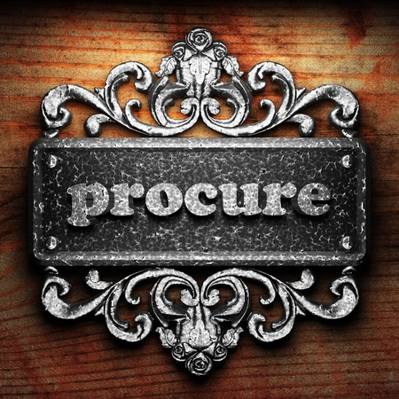 procure: Silver word on ornament