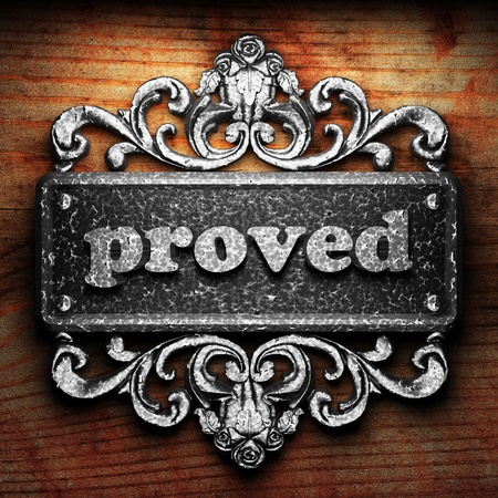 proved: Parola argento su ornamento Archivio Fotografico