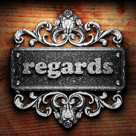 regards: Silver word on ornament