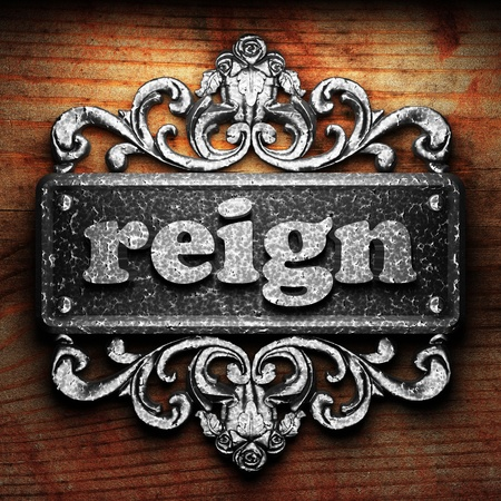 reign: Silver word on ornament