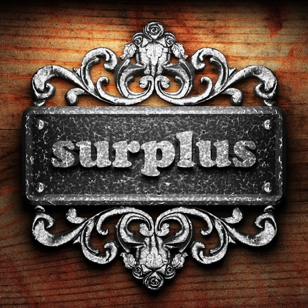 surplus: Silver word on ornament