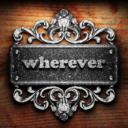 wherever: Silver word on ornament