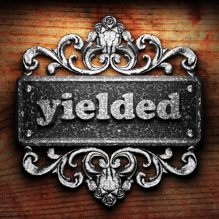 yielded: Silver word on ornament