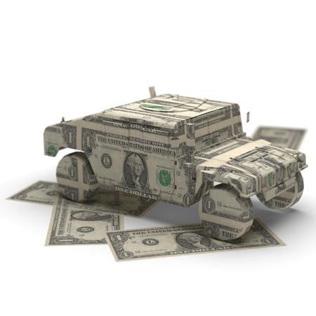 Militär Geld Origami in 3D gemacht