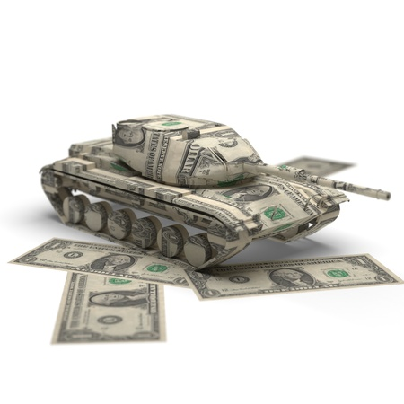 military money origami made in 3D Stock Photo - 12437052