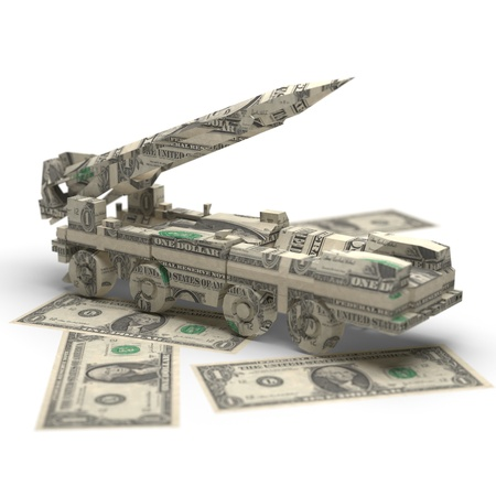 military money origami made in 3D photo