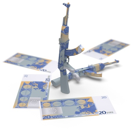 military money origami made in 3D Stock Photo - 12437041