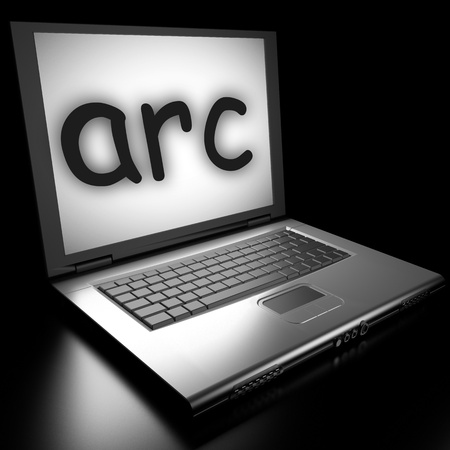 Word on laptop made in 3D Stock Photo - 12995627