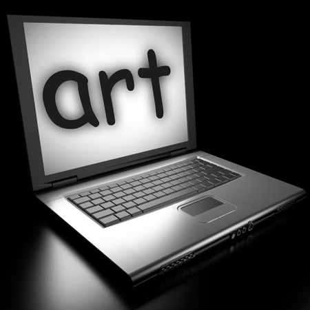 Word on laptop made in 3D Stock Photo - 12995596