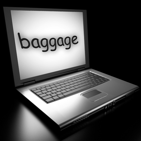 Word on laptop made in 3D Stock Photo - 12986234