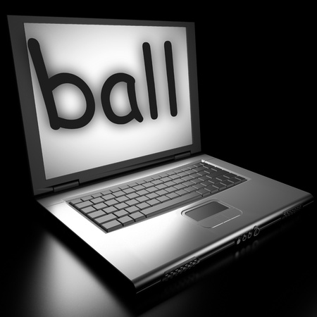 Word on laptop made in 3D Stock Photo - 12986132