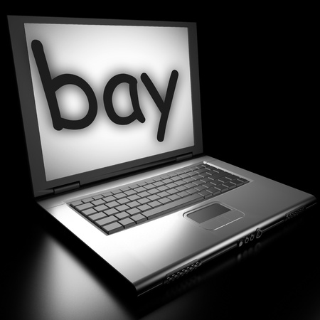 Word on laptop made in 3D Stock Photo - 12995588