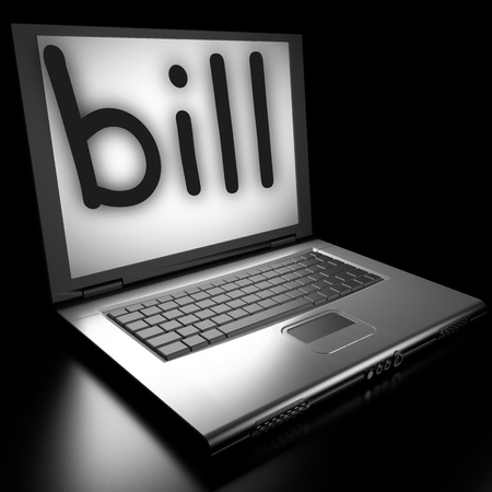 Word on laptop made in 3D Stock Photo - 12986110