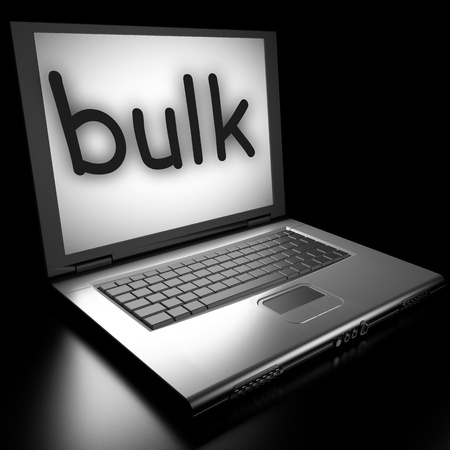 Word on laptop made in 3D Stock Photo - 12995682