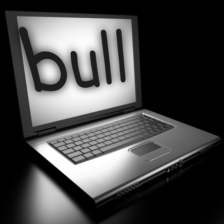 Word on laptop made in 3D Stock Photo - 12986114