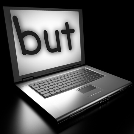 Word on laptop made in 3D Stock Photo - 12986166