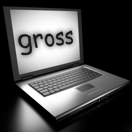 Word on laptop made in 3D Stock Photo - 13018957