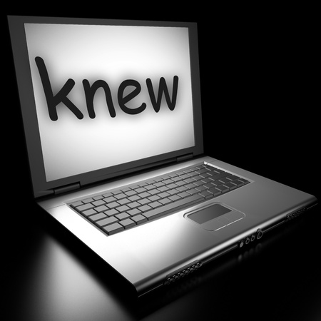 knew: Word on laptop made in 3D