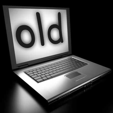 Word on laptop made in 3D Stock Photo - 13019637