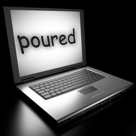 Word on laptop made in 3D Stock Photo - 13035225