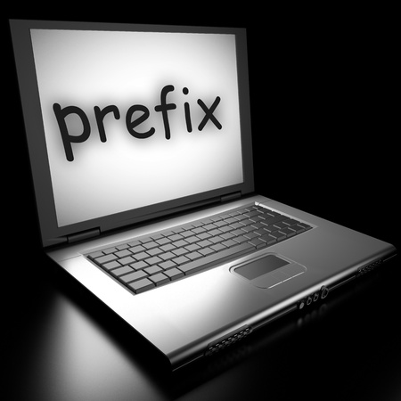 prefix: Word on laptop made in 3D