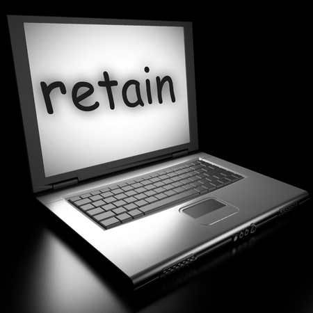 Word on laptop made in 3D Stock Photo - 13038511