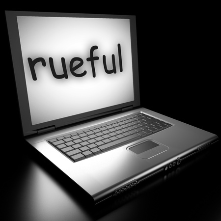 rueful: Word on laptop made in 3D
