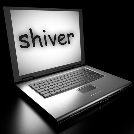 shiver: Word on laptop made in 3D