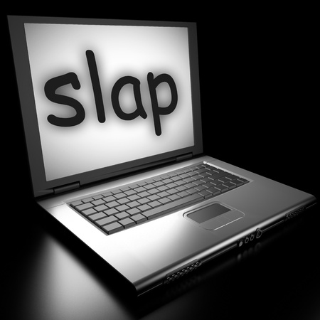 Word on laptop made in 3D Stock Photo - 13039813